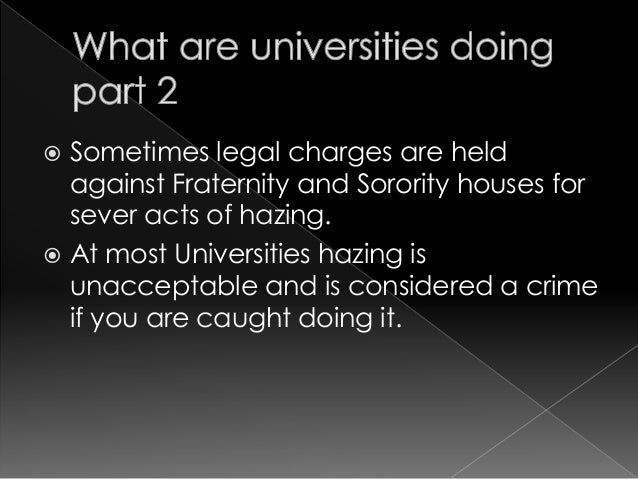 """an understanding of hazing in schools Understanding hazing main content """"55% of college students involved in clubs, teams, and organizations experience hazing"""" national hazing study hazing can be difficult to define  hazing occurs in middle schools, high schools and colleges source: hazingpreventionorg learn more: hazing in the news."""