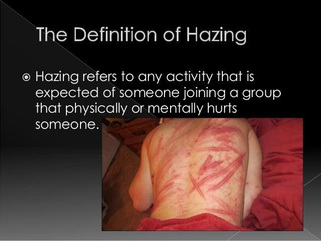 hazing alone