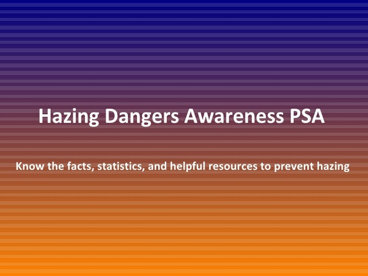 Hazing Dangers Awareness PSA  Know the facts, statistics, and helpful resources to prevent hazing