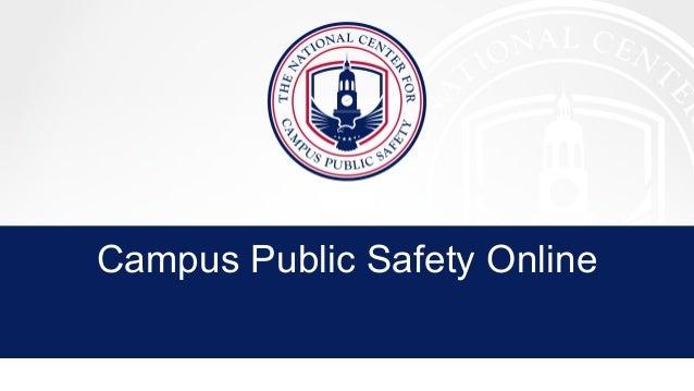 Campus Public Safety Online