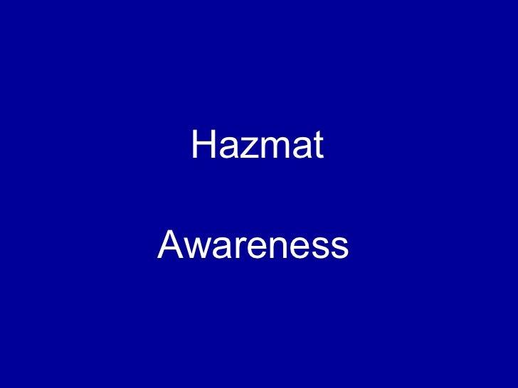 Hazmat Awareness