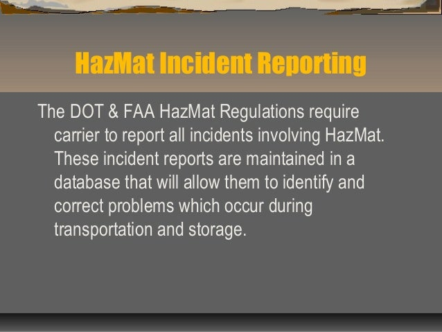 Hazardous Materials Safety By The International Trade Association Of