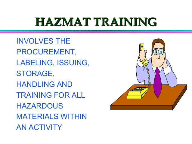 Hazardous Materials Control Amp Management Training By Noaa