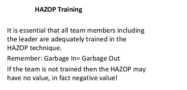 Hazard and Operability Analysis – HAZOP, SIL, ATEX, IECEx