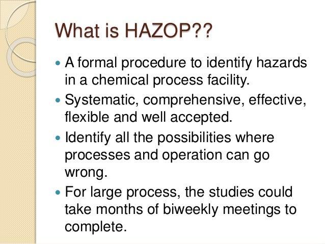 Hazard and Operability Studies: The Basics - Safeopedia