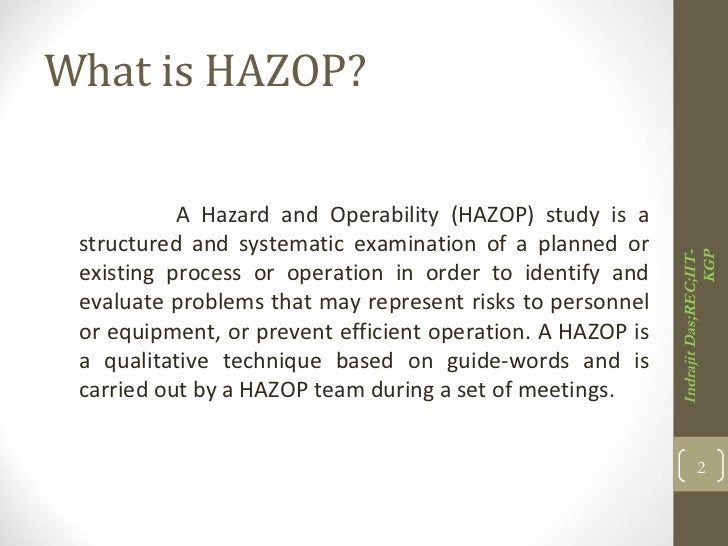 HAZOP Study | Hazard Identification and Risk Assessment