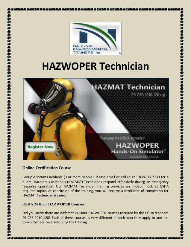 Hazwoper Technician