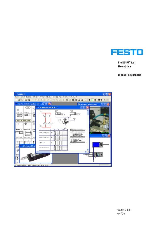 FluidSIM® 3.6 Neumática Manual del usuario 662759 ES 04/04