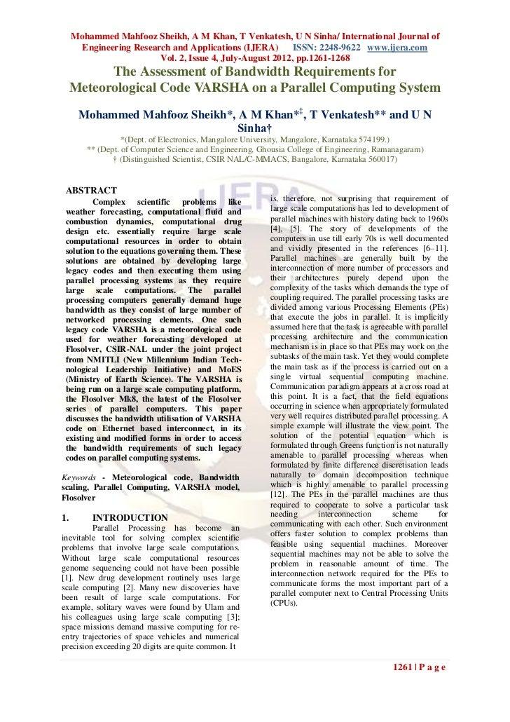 Mohammed Mahfooz Sheikh, A M Khan, T Venkatesh, U N Sinha/ International Journal of       Engineering Research and Applica...