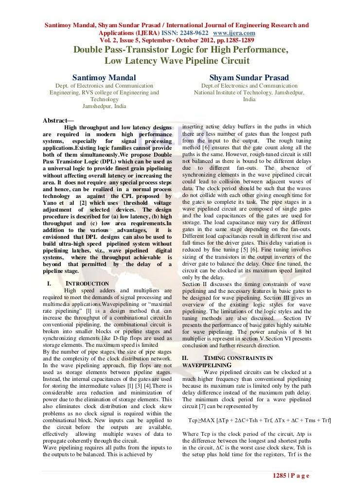 Santimoy Mandal, Shyam Sundar Prasad / International Journal of Engineering Research and                 Applications (IJE...