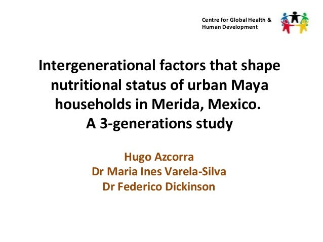 Intergenerational factors shaping nutritional status among
