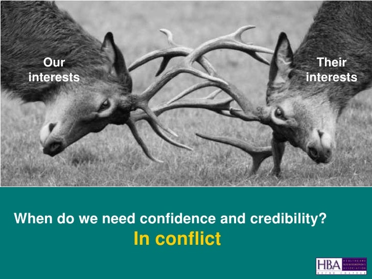 Confidence, Credibility, and Conflict Slide 2