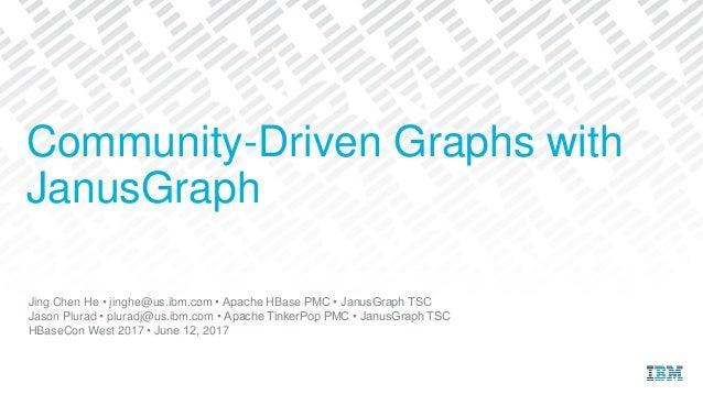 Jing Chen He • jinghe@us.ibm.com • Apache HBase PMC • JanusGraph TSC Jason Plurad • pluradj@us.ibm.com • Apache TinkerPop ...