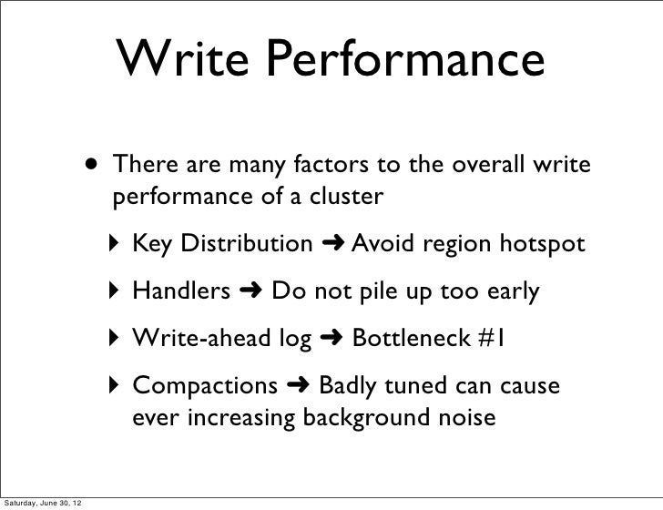 hbase write ahead log performance machine