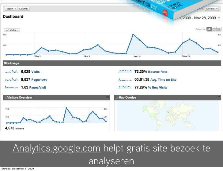 Analytics.google.com helpt gratis site bezoek te                           analyseren Sunday, December 6, 2009