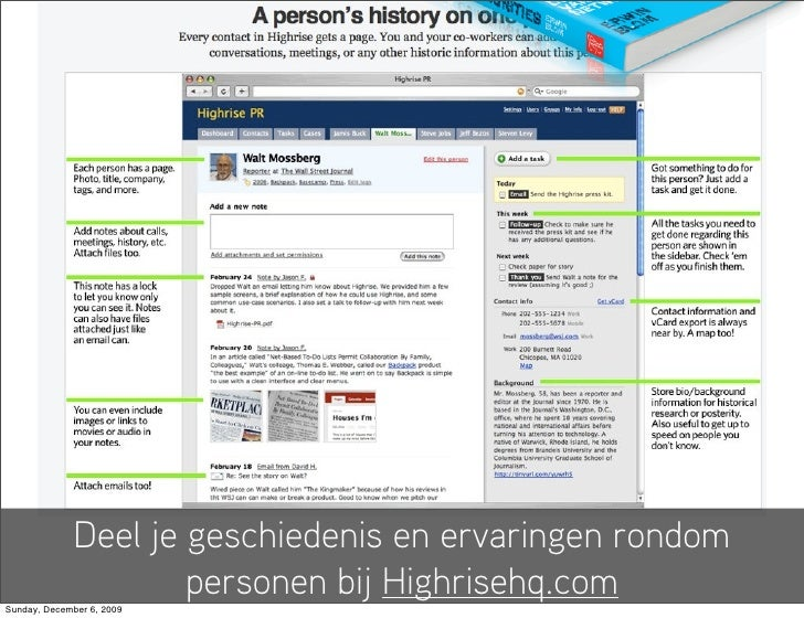Deel je geschiedenis en ervaringen rondom                       personen bij Highrisehq.com Sunday, December 6, 2009