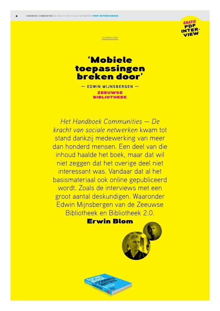 Interview Handboek Communities: Edwin Mijnsbergen Slide 2