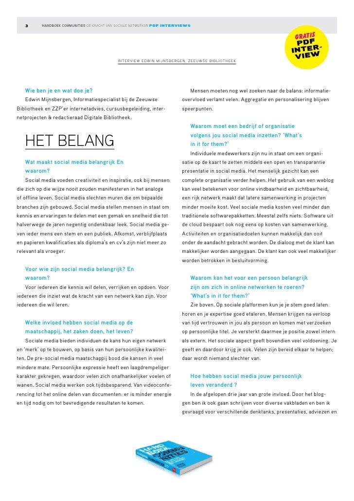 Interview Handboek Communities: Edwin Mijnsbergen Slide 3