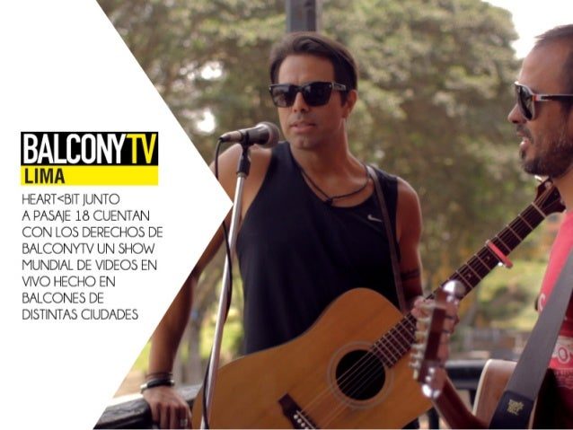 LIIVIA  HEART<BIT JUNTO  A PASAJE 18 CUENTAN CON LOS DERECHOS DE BALCONYTV UN SHOW MUNDIAL DE VIDEOS EN VIVO HECHO EN BALC...