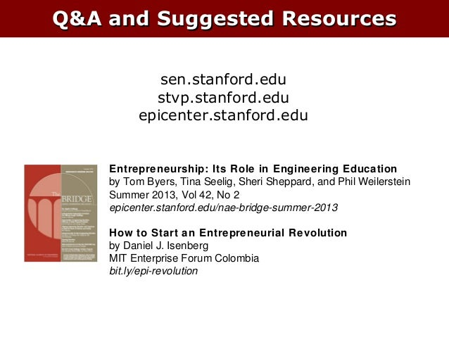 Stanford and the Silicon Valley Ecosystem - Tom Byers - 2013 HBCU Innovation Summit