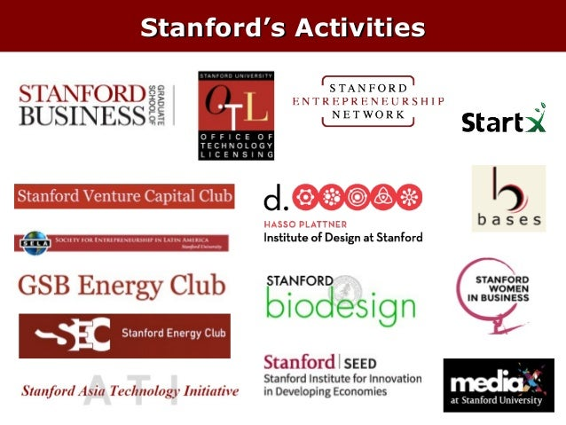 Stanford's Activities