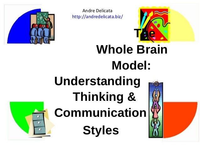 The  Andre Delicata  http://andredelicata.biz/  Whole Brain  Model:  Understanding  Thinking &  Communication  Styles