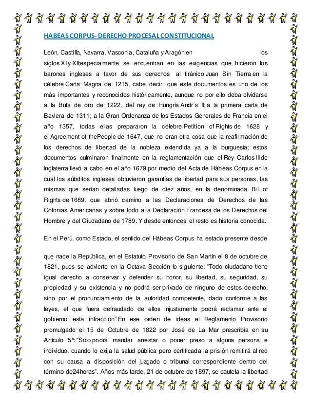 HABEAS CORPUS- DERECHO PROCESAL CONSTITUCIONAL 4 León, Castilla, Navarra, Vasconia, Cataluña y Aragón en los siglos XI y X...