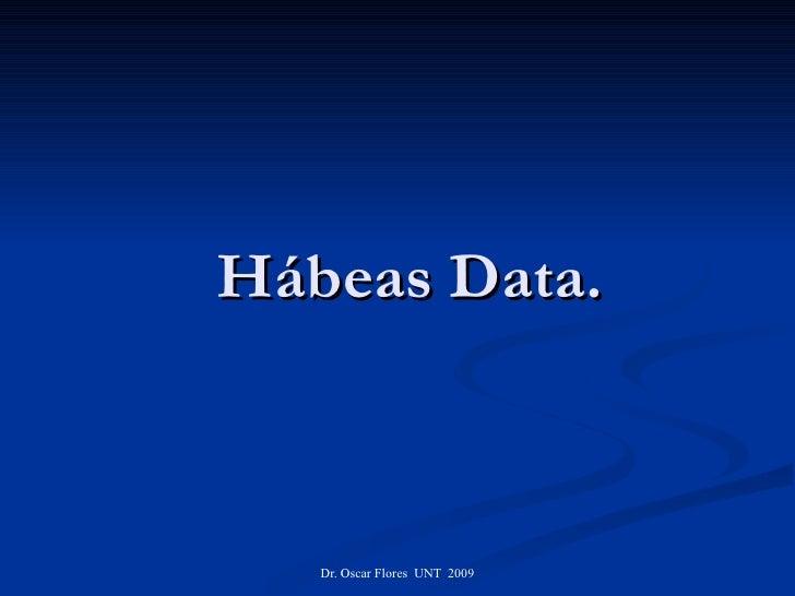Hábeas Data.