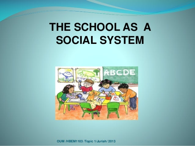 school as a social system essays Free term papers & essays - education as a social institution, soc  they provide a structure for behavior in a particular part of social life  for schools to .