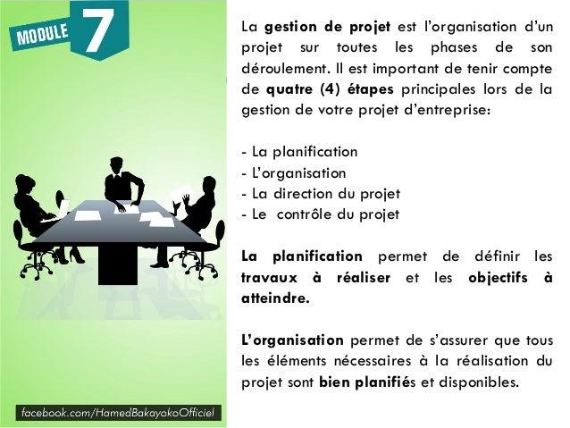 La direction du projet permet de suivre au quotidien les déroulement de la phase d'exécution. Le contrôle du projet permet...