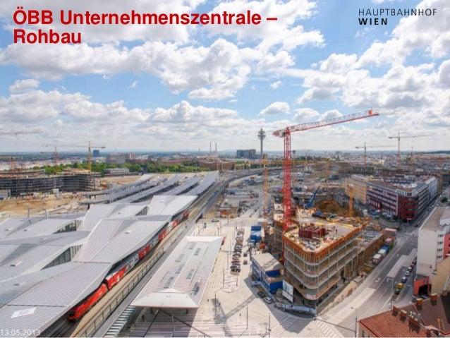 http://hauptbahnhof-wien.at ÖBB Unternehmenszentrale – Rohbau