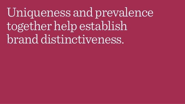 Uniquenessandprevalence togetherhelpestablish branddistinctiveness.