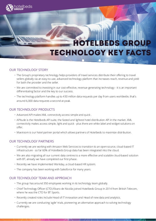 Hotelbeds Group Technology key facts