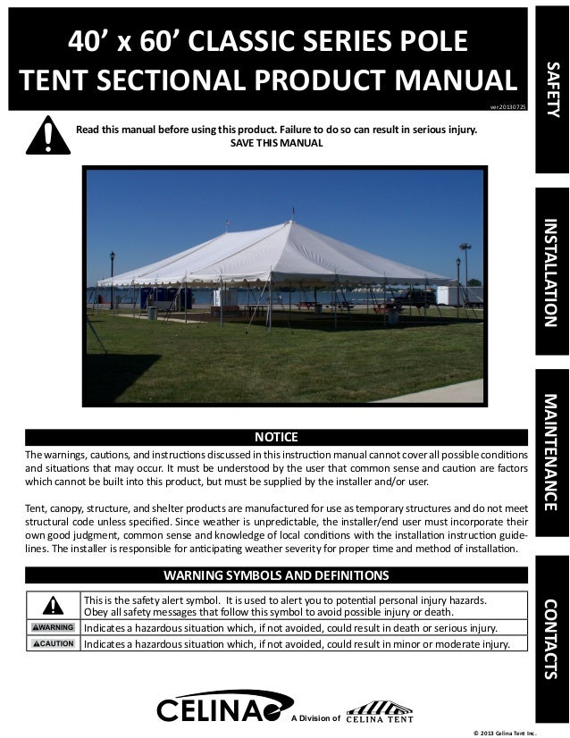 40 x 60 Pole Tent Installation Instructions