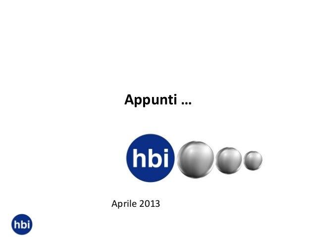 Appunti …  Aprile 2013