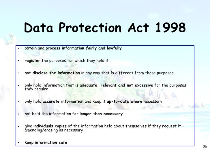data protection act 1998 and broad Uk data protection act 1998 (dpa), and describes some of the new and  these  categories are broadly the same as those in the dpa, but there are some.