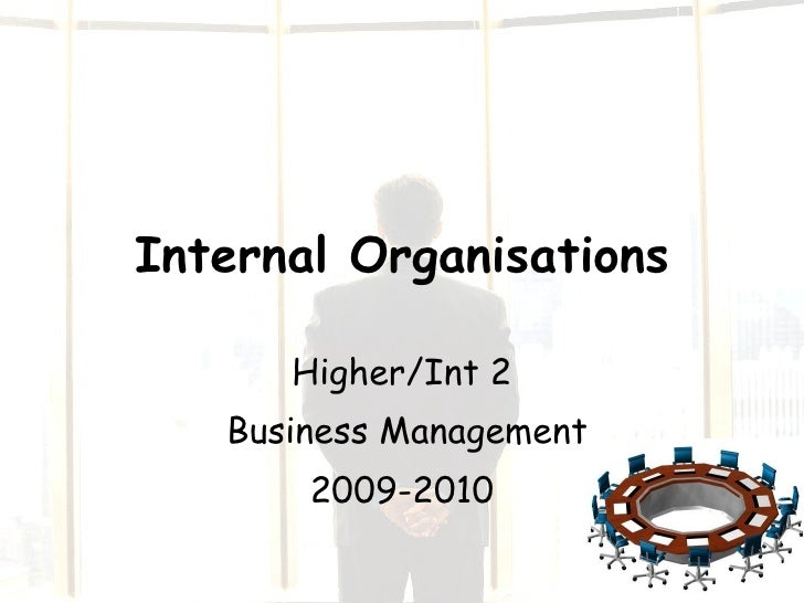 Internal Organisations Higher/Int 2 Business Management 2009-2010