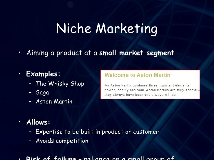 Target market | business | tutor2u.