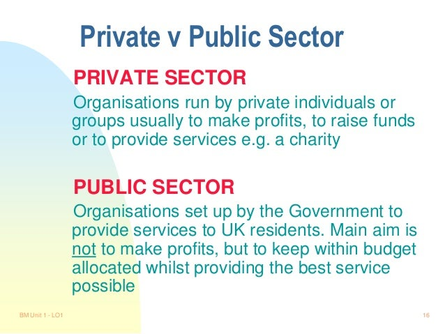 compare and contrast leadership within the public and private sectors Studies comparing the organizational commitment of workers in the public sector with that of employees in the private, for-profit sector have yielded mixed results (35) consequently, no definitive comparison of organizational commitment between these two sectors exits, eliciting calls for further empirical studies.
