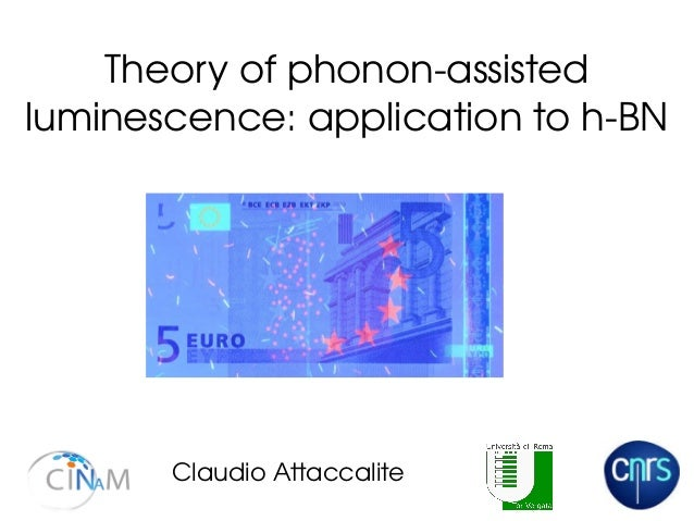 Theory of phonon­assisted  luminescence: application to h­BN Claudio Attaccalite