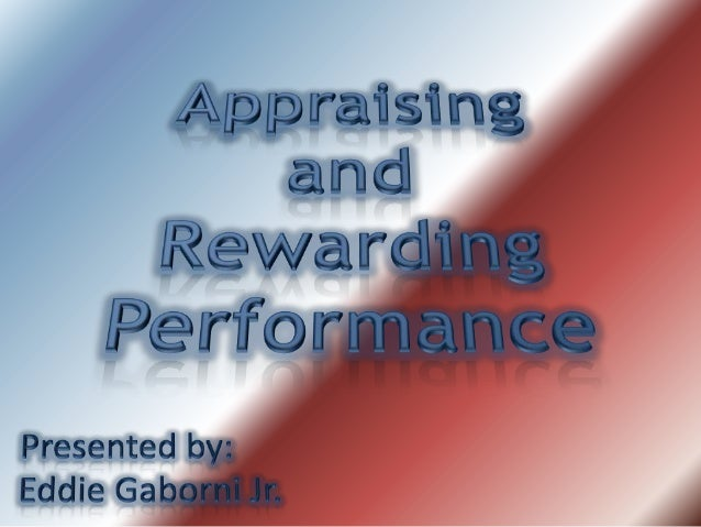 appraising and rewarding performance definition