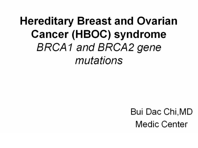 Hereditary Breast And Ovary Cancer Hboc Syndrome Dr Bui Dac Chi