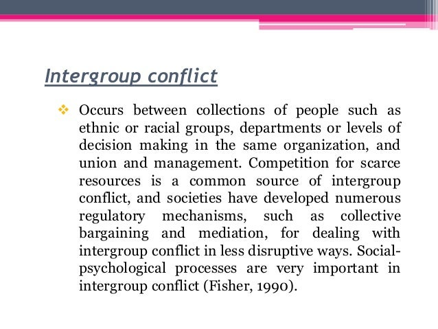intergroup conflict in india Intergroup emotions and intergroup relations dislike or competition for resources explains intergroup conflict, what explains the form that conflict takes:.