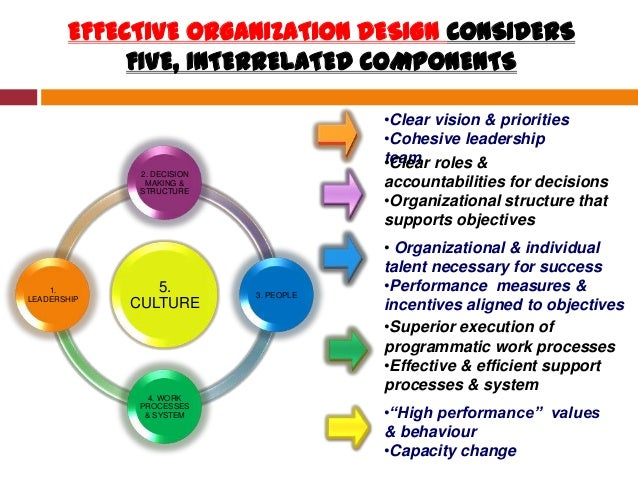 to be effective an organizational structure should quizlet
