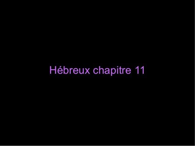 Hébreux chapitre 11Hébreux chapitre 11