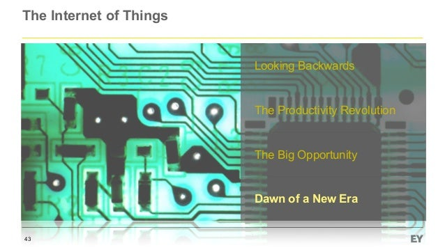 The Internet of Things 43 Looking Backwards The Productivity Revolution The Big Opportunity Dawn of a New Era