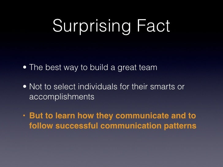 the new science of building great teams