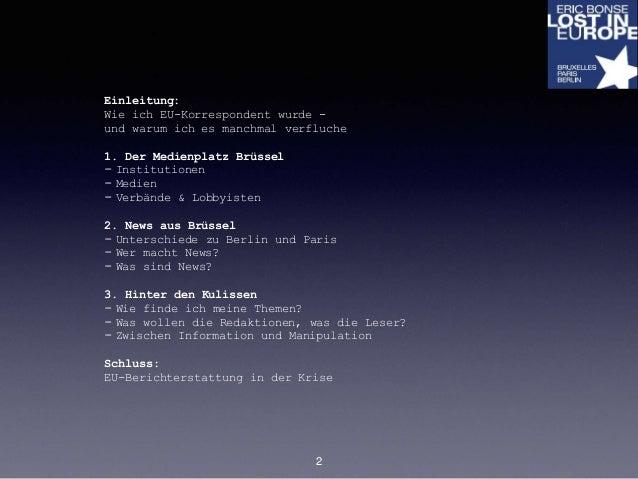 Hinter den Kulissen: Nachrichten aus Europa Slide 2
