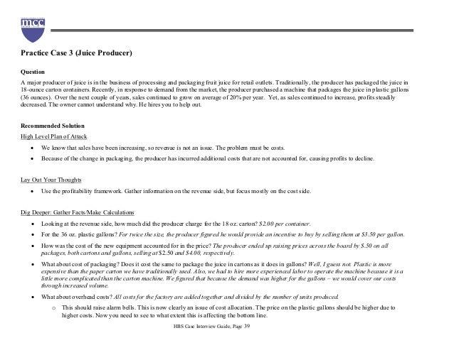 Harvard case studies packet
