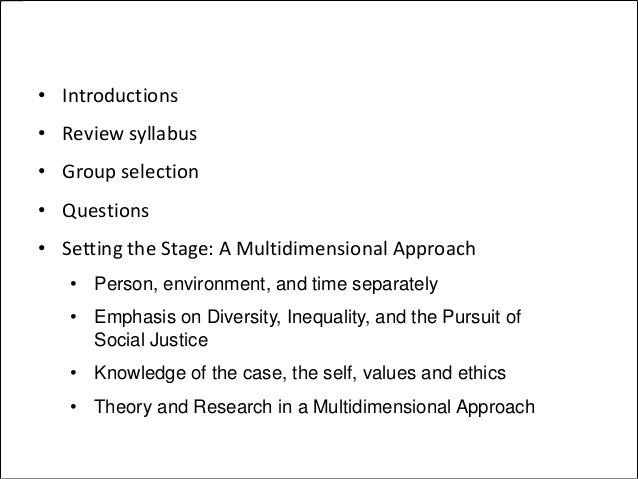 Introduction to Human Behavior in the Social Environment Module 1